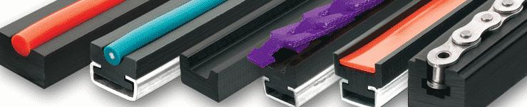 Водачи за вериги и ремъци изработени от технически пластмаси